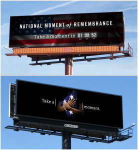 Moment of Remembrance Billboard